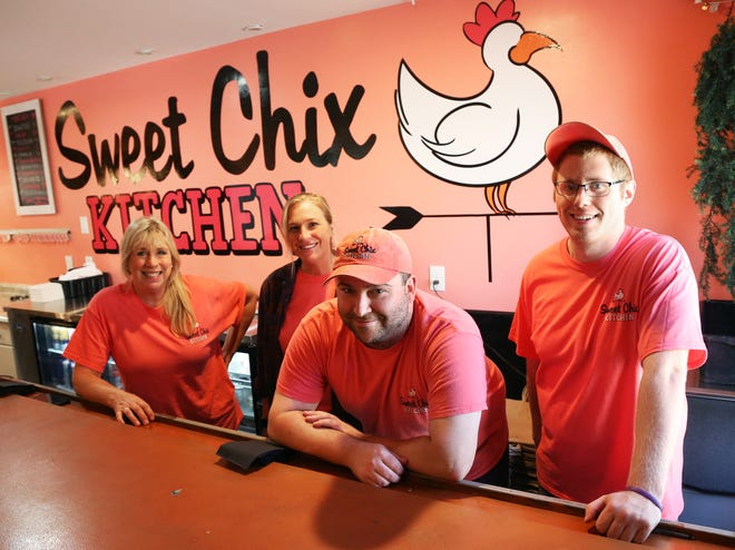 Sweet Chix Kitchen has opened its new home in North Hampton. From left are owner Sandra Makmann, front of house manager Kristen Charbonneau, owner Stevie Driscoll and back of the house manager Jake Barisano.