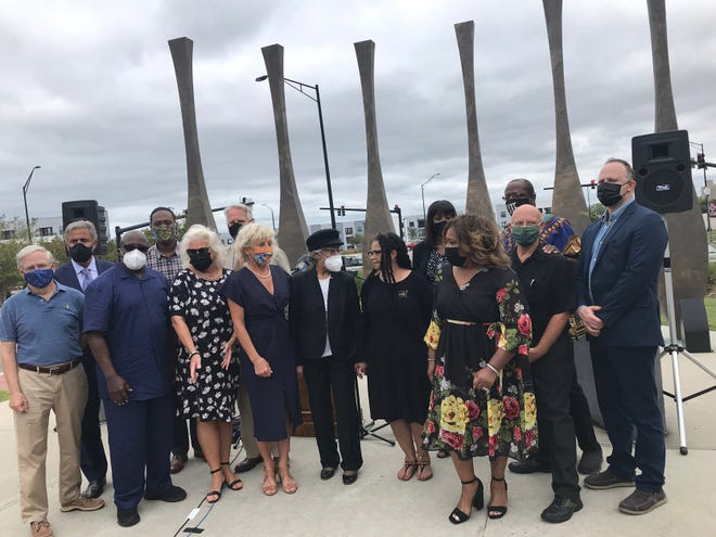 A press conference with local elected officials and community members was held Tuesday, Oct. 12, at 1898 Memorial Park in Wilmington to announce a series of events commemorating the Wilmington coup and massacre of 1898.