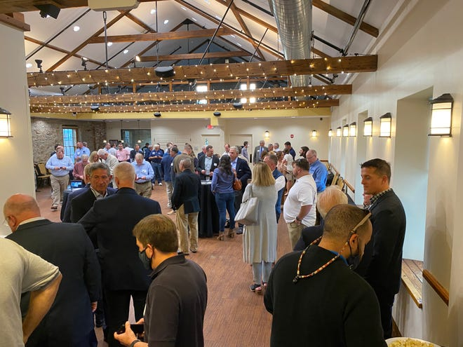 """The """"Meet the Buyer"""" reception was held at the Fairfield Inn and Suites by Marriott in New Bedford on Tuesday evening. The event featured remarks from the DEME and additionally the New Bedford Ocean Cluster (NBCO) and Vineyard Wind."""