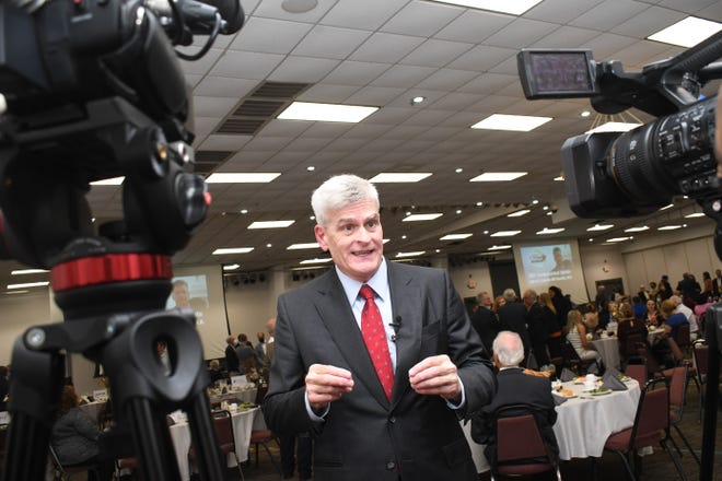 U.S. Senator Bill Cassidy, M.D. (R-LA) was in Alexandria Wednesday, Oct. 13, 2021 to address the Central Louisiana Regional Chamber of Commerce. He discussed the Infrastructure Investment and Jobs Act and how it would benefit Central Louisiana.