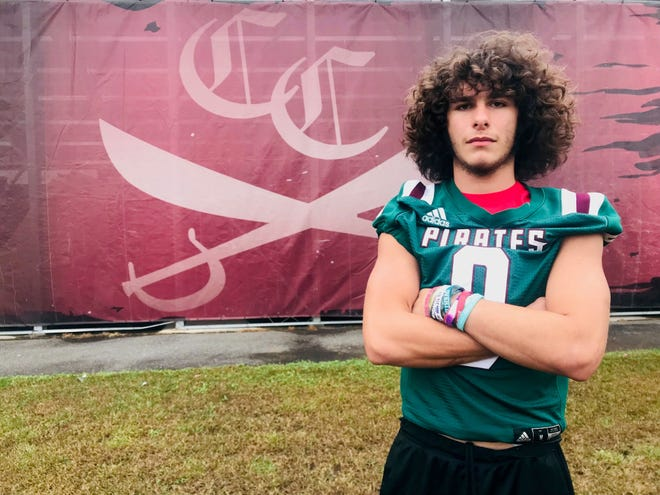 Cedar Creek linebacker CJ Resto is a leader of a defense that has allowed just 21 points this season.