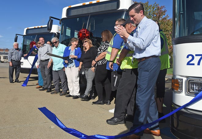 The Richland County Transit celebrated its three new buses with a ribbon-cutting ceremony Wednesday.