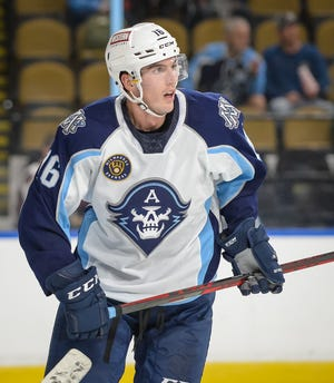 Joseph LaBate played three seasons with in Utica, New York, and three in Belleville, Ontario, before signing an AHL deal with the Milwaukee Admirals for 2021-22.