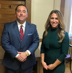 Ryan Bubb and Tricia Moore were appointed Newark city auditor and law director Wednesday night by the Newark members of the Licking County Republican Party Central Committee.
