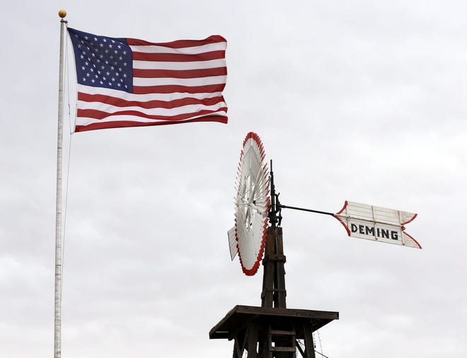 Iconic vintage windmill has been restored and is back up on its perch in front of the Deming Visitor Center, 800 E. Pine Street.