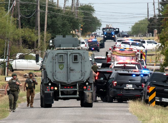 Several Wichita Falls area law enforcement agencies responded to the scene of a suspect reportedly shooting at deputies Wednesday afternoon at a home on Turkey Ranch Road.