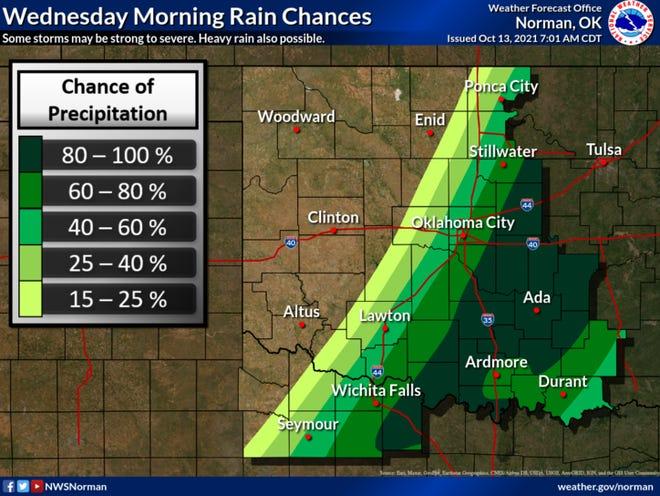 Rain chances may continue into Thursday morning.