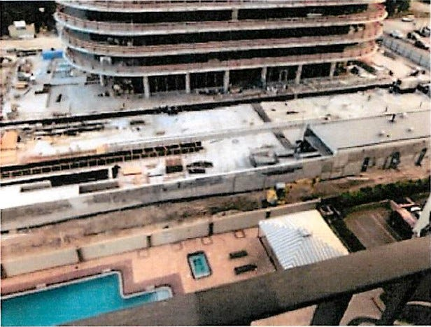Mara Chouela, then vice president of the condo association, emailed this photo of the 87 Park construction to Surfside building officials in January of 2019.
