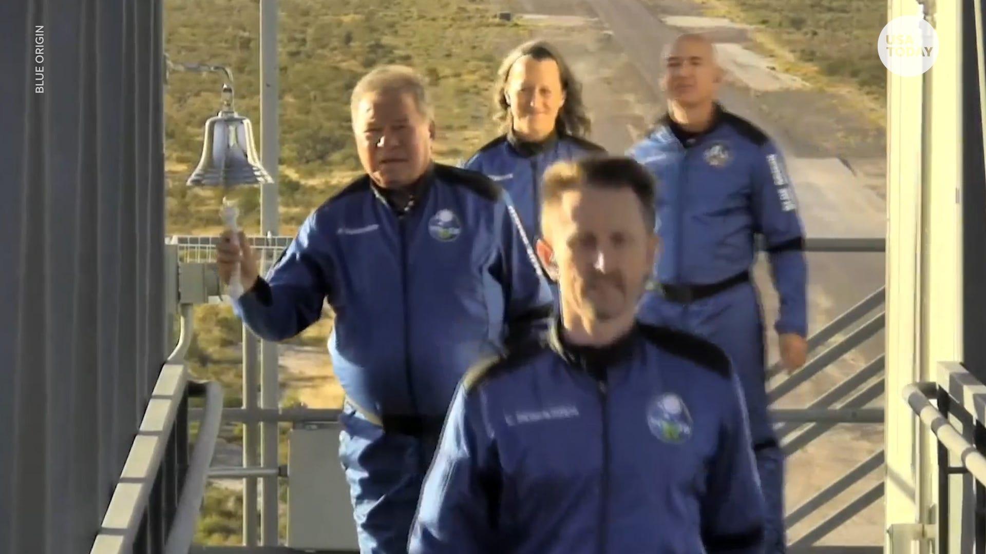 Star Trek  actor William Shatner becomes oldest man in space aboard Blue Origin rocket