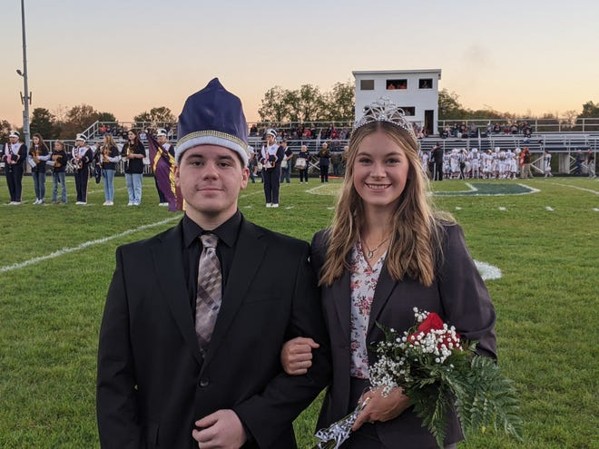 United High School's 2021 fall homecoming queen is Emily McKarns, right, and the king is Angus Cope.