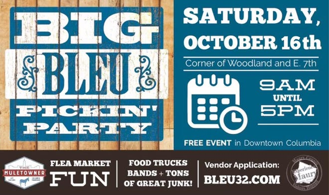 """Bleu 32's Big Bleu Pickin' Party returns to downtown Columbia from 9 a.m. to 5 p.m. Saturday. The event will feature food trucks, live bands and lots of """"great junk."""""""
