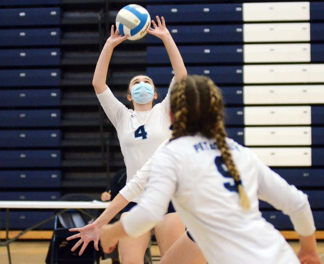 Olivia DeGroot (4) back on the court for the Northmen continued to pay dividends, as Petoskey earned another three-set win over Gaylord.