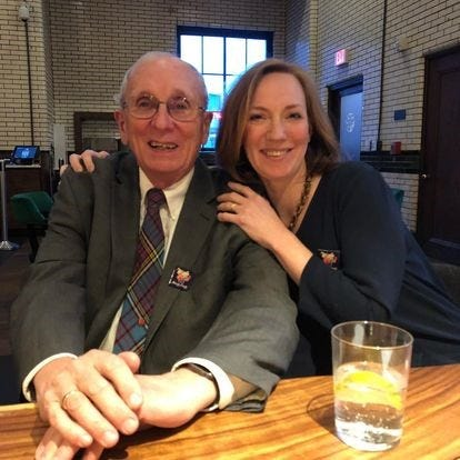 Novelist Bethany Ball with her father, Robert Ball, a longtime metro Detroit journalist.