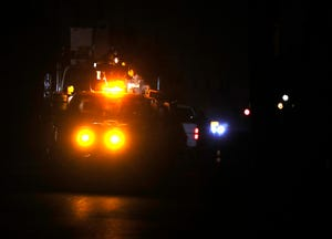 The power was out at 2900 William G. Weathers Drive near Park Duvall's senior center.Oct. 13, 2021