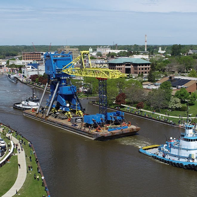 The 140 Ton Navy Crane is the Coolest Thing Made in Wisconsin, as decided by an annual competition from Wisconsin Manufacturers and Commerce and Johnson Financial Group.