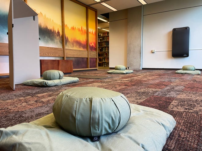 A non-sectarian Contemplation Space recently opened in in Bracken Library at Ball State University.