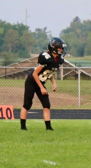 Winchester football freshman kicker Aubrey Weigand tied the school record with 10 made extra point kicks in the team's 70-0 win over Cambridge City Lincoln on Oct. 8, 2021.