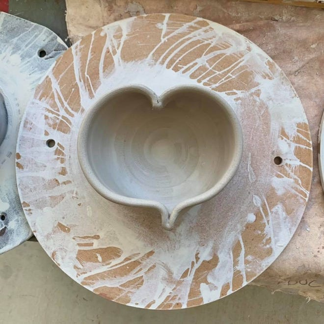 Hundreds of handmade bowls are donated to Las Cruces' Empty Bowls event to fundraise for El Caldito Soup Kitchen, held this year on Oct. 15, 2021 at St. Paul's United Methodist Church.