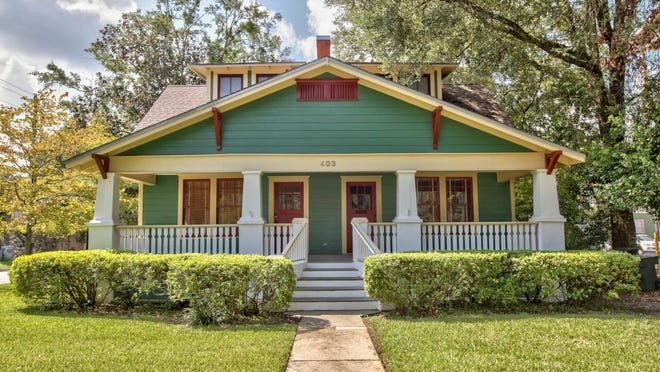 The bungalow on St. Francis Street, which just went on the market, will be the site of a history talk by Bob Holladay at 6:30 p.m. Oct. 19.