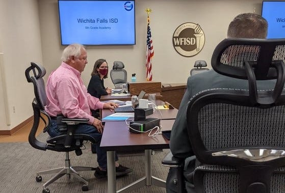 Wichita Falls ISD trustees met in a special session Tuesday, Oct. 12, 2021.