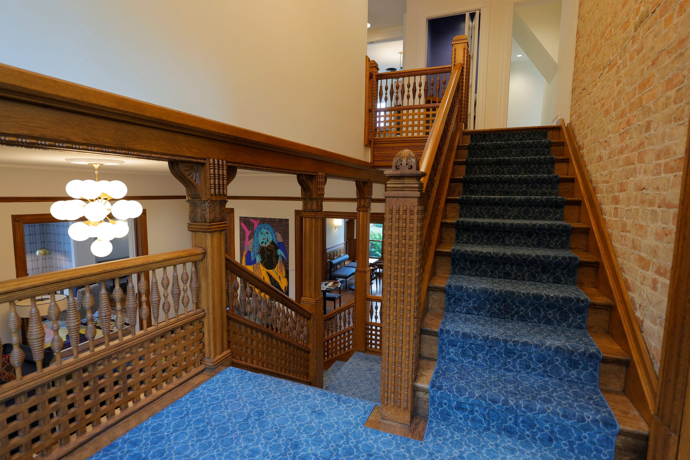 The BasBlue house on Ferry Street in Detroit on October 13, 2021, still holds the charm and elegance after the renovations. When BasBlue opens near the end of October it will be a membership organization for women to join and support other women across the metro Detroit with an area to work, meet, get mentorship help along with career advice and guidance.