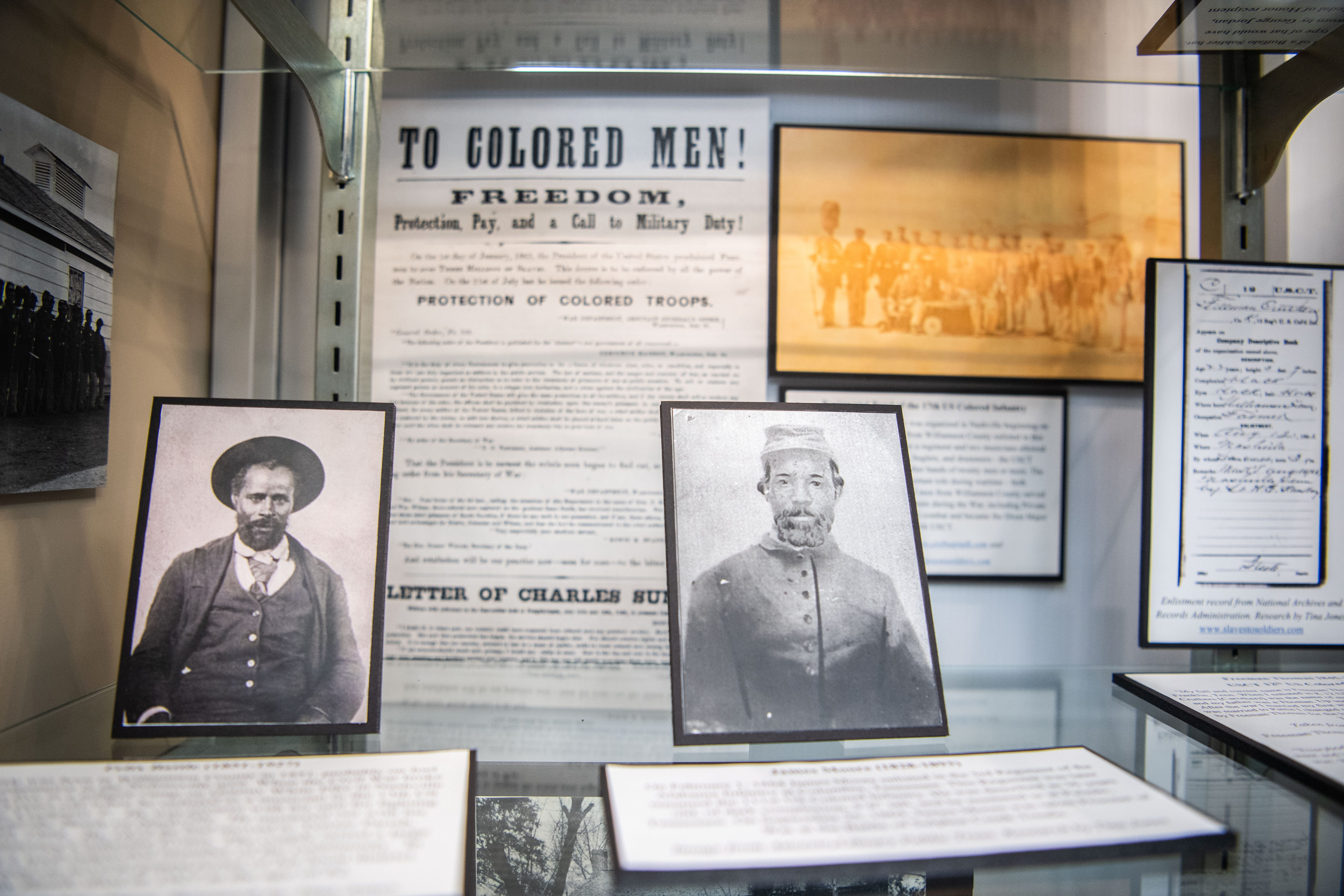 Bradley Boshers talks about the US Colored Troops exhibit at Williamson Archives