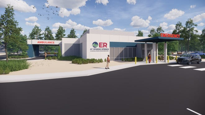 A rendering of Northern Nevada Medical Center's ER at Spanish Springs freestanding emergency department.