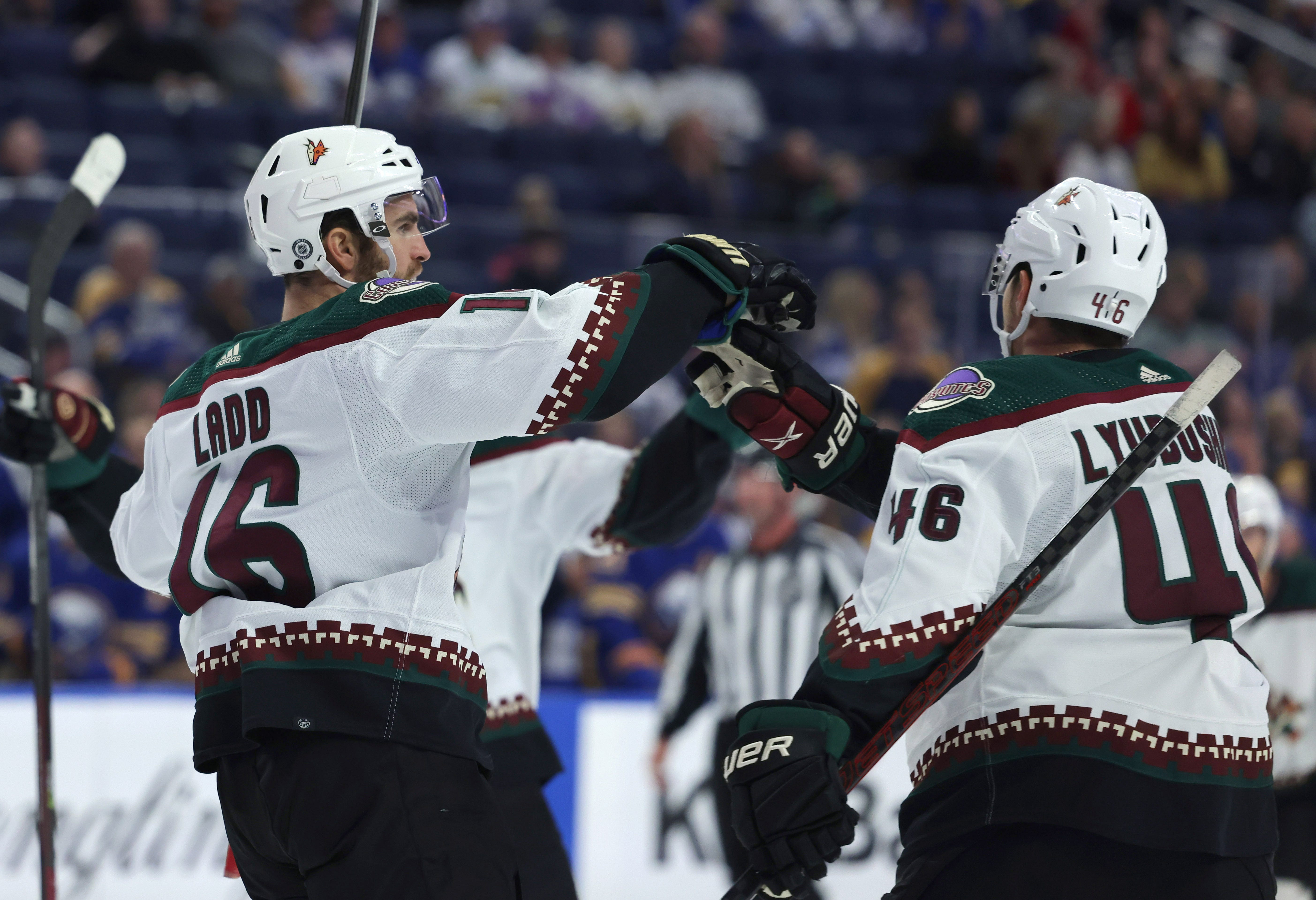 Feeling of first goal in 17 months is one Coyotes' Andrew Ladd cherishes
