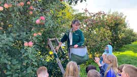 Greencastle students tour Tracey's Orchard in Antrim Township