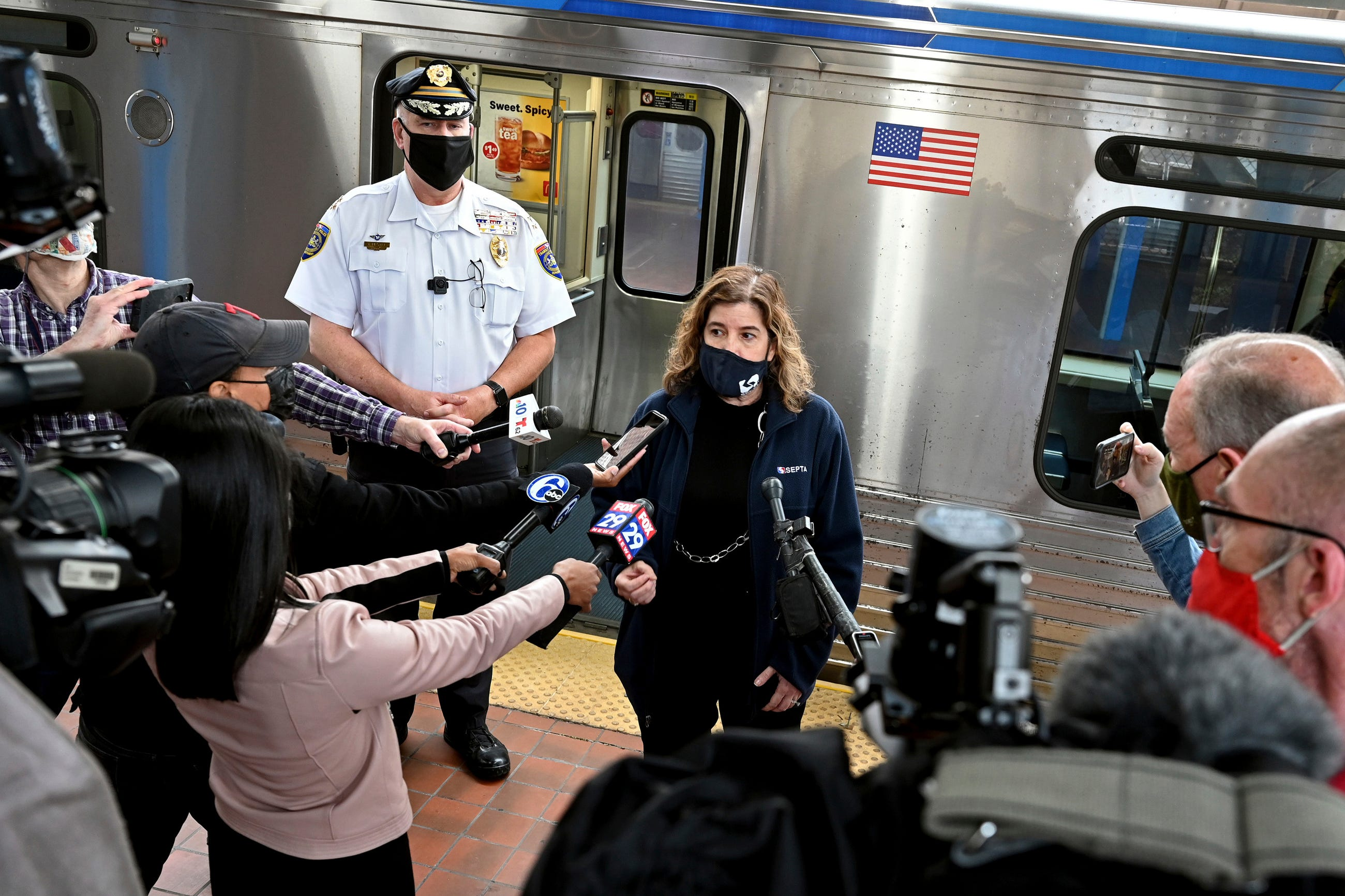 Angry and disgusted : Train riders held up phones, didn t call 911 as woman was raped on Philadelphia train, police say