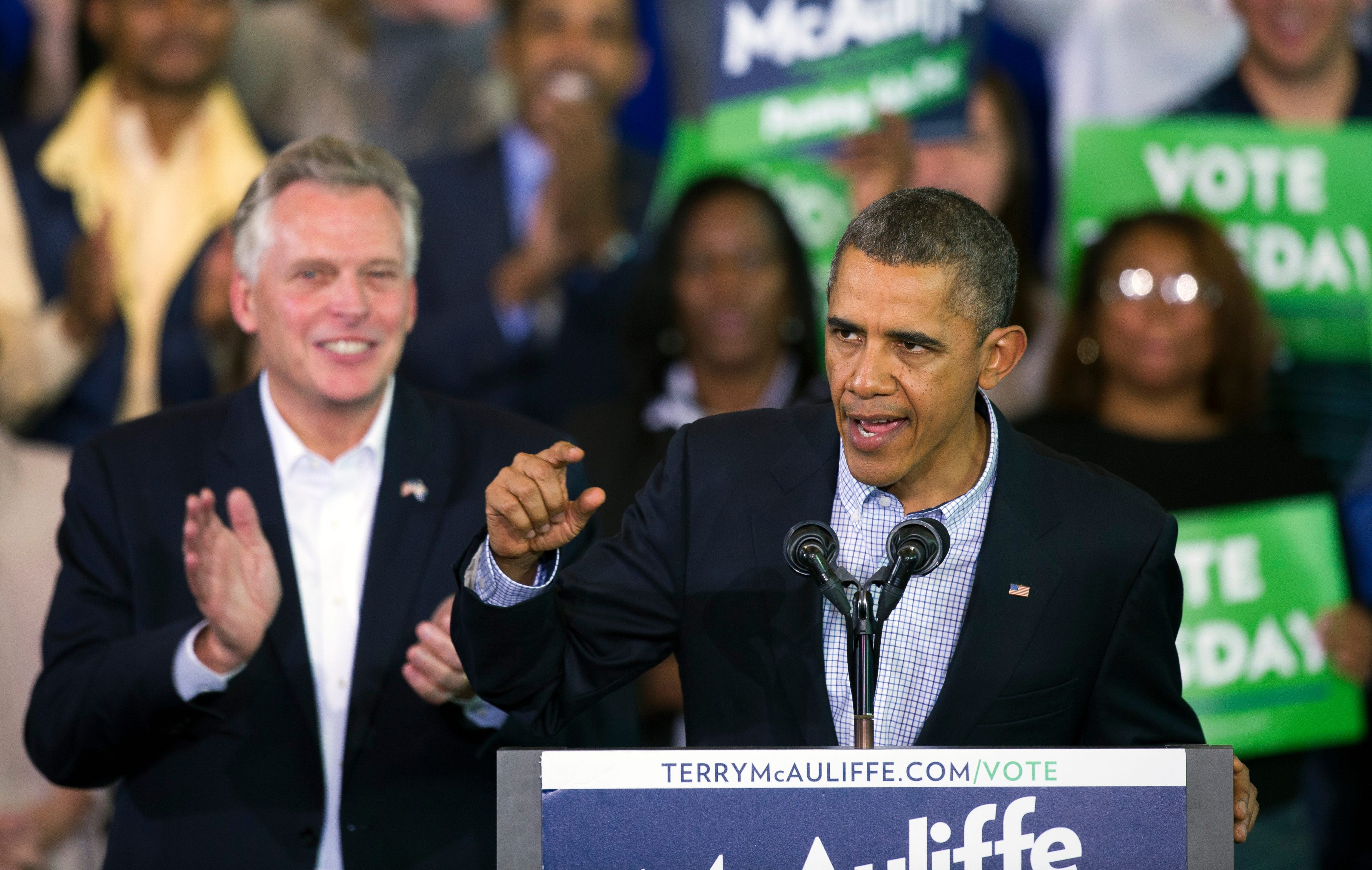 Barack Obama hits campaign trail in bellwether Virginia race as Democrats try to galvanize Black voters
