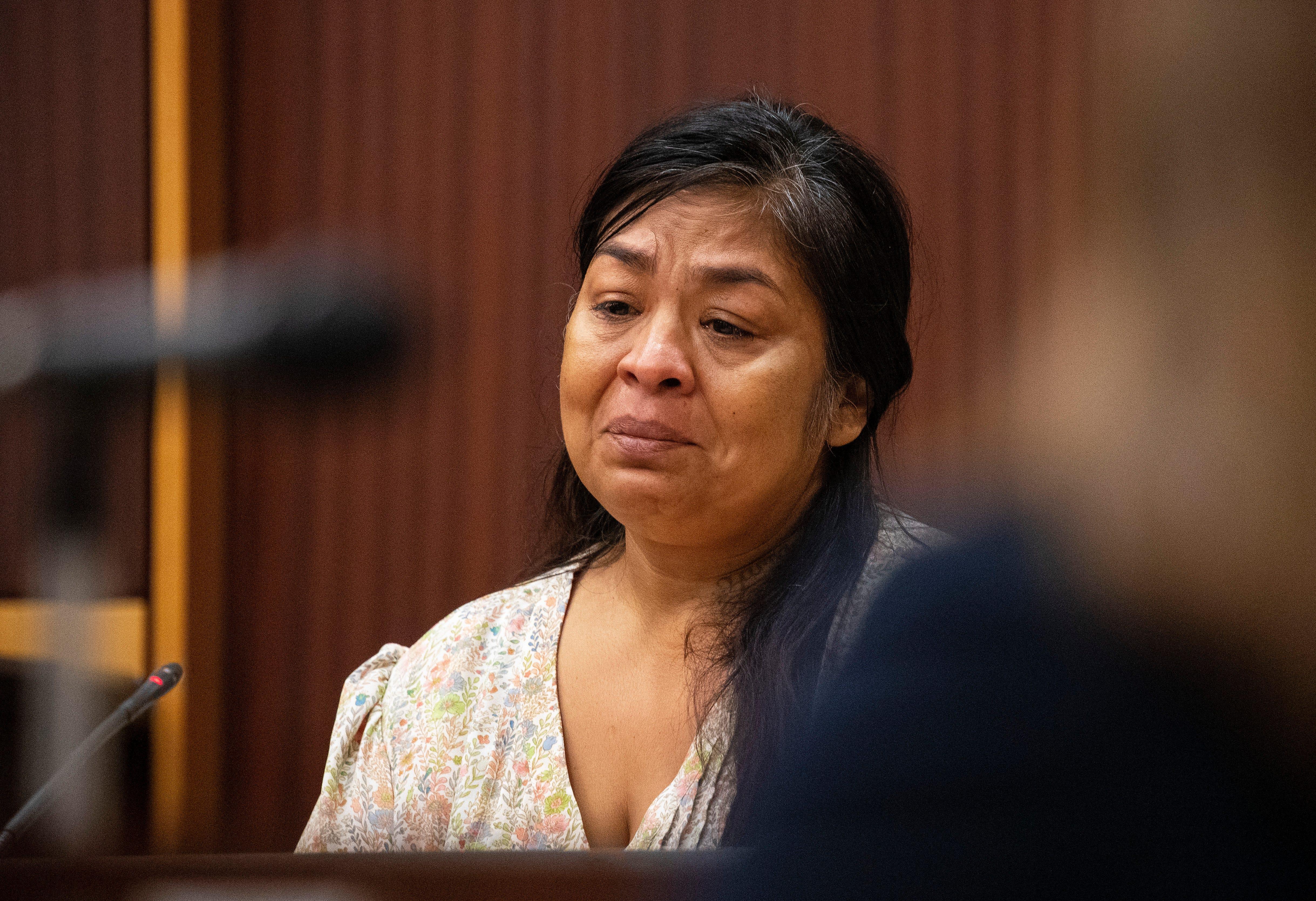 Joyce Cara Zamago appears in court for motions hearing in her case