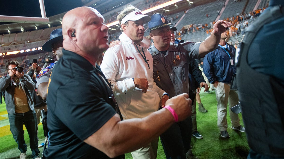 Lane Kiffin: 'I was kind of down on our cops' after Ole Miss-Tennessee game