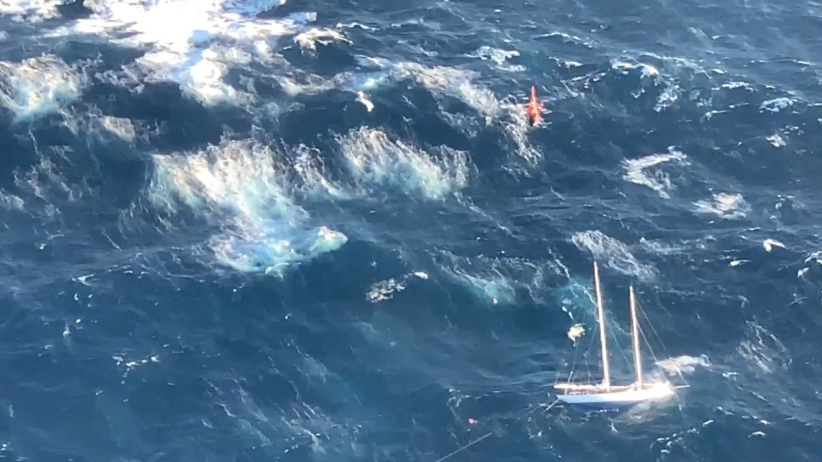 Coast Guard rookie has a stormy start to his career, saving the crew of a sinking sailboat