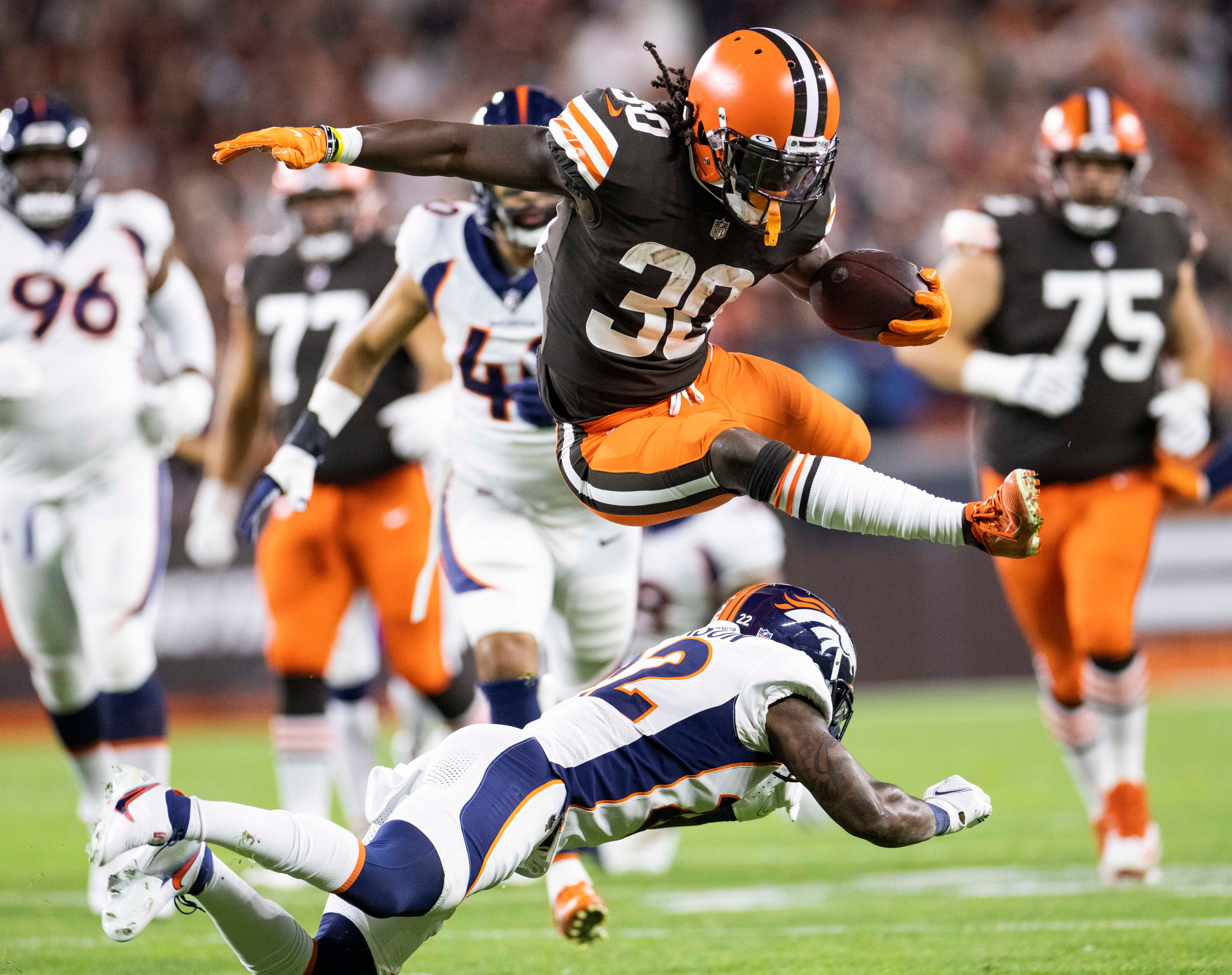 'That ain't nothing but God': D'Ernest Johnson epitomizes Browns culture with career night