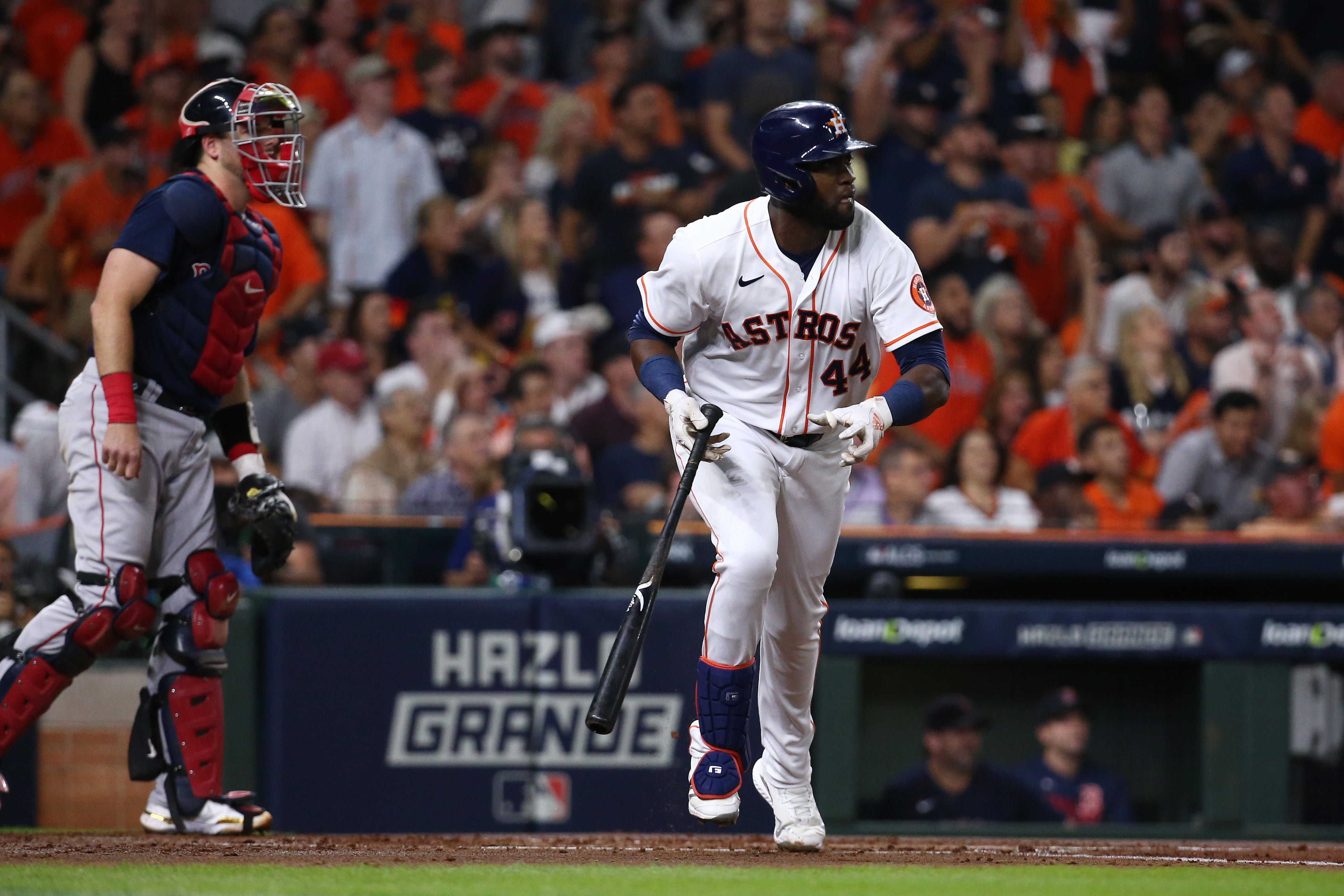 Because of them, we re here now : Astros  young stars, led by Yordan Alvarez, lead old guard back to World Series