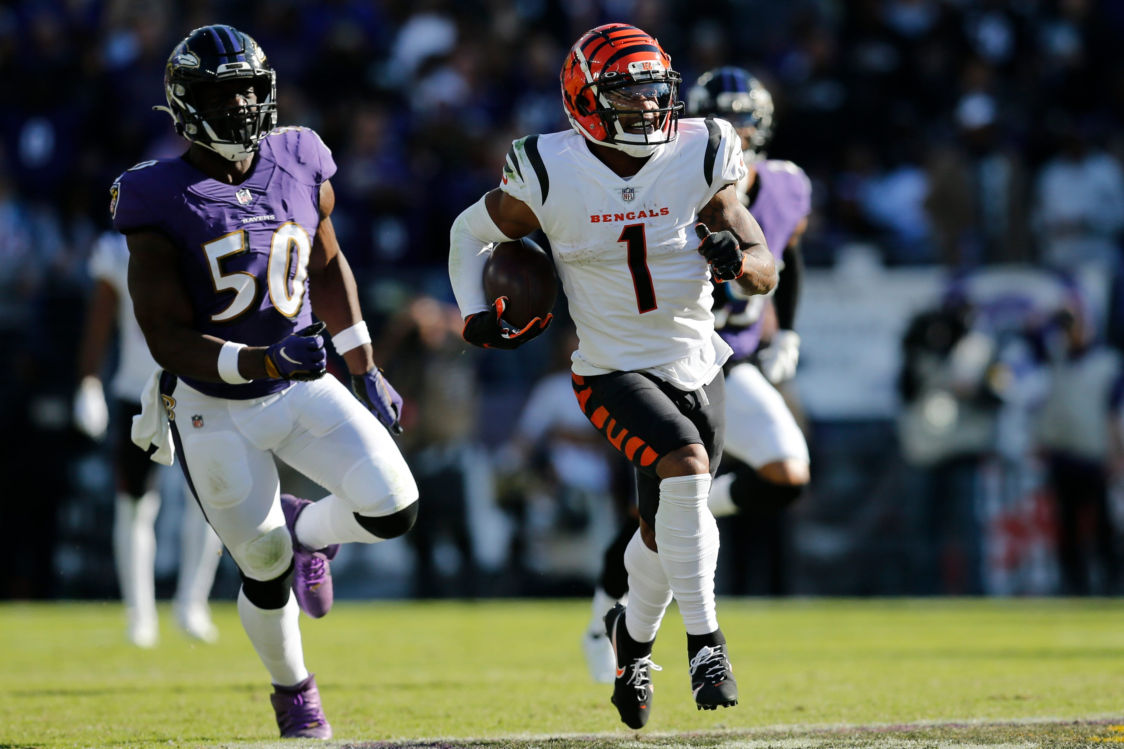 Bengals' Ja'Marr Chase sets NFL rookie record through seven games with 754 receiving yards