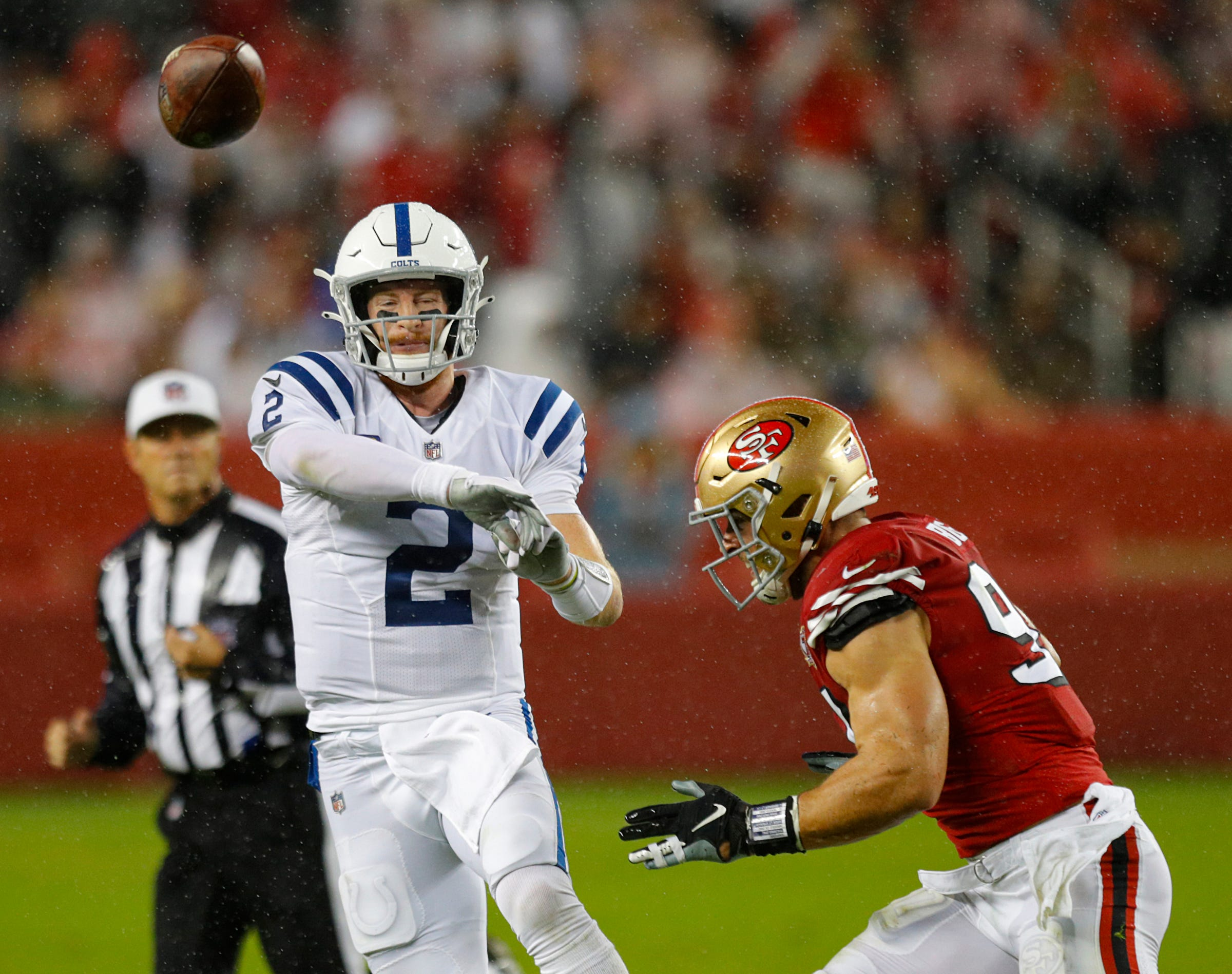 Weather plays havoc with Colts vs. 49ers game