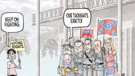 Fight back against voting restrictions: Mike Thompson toon