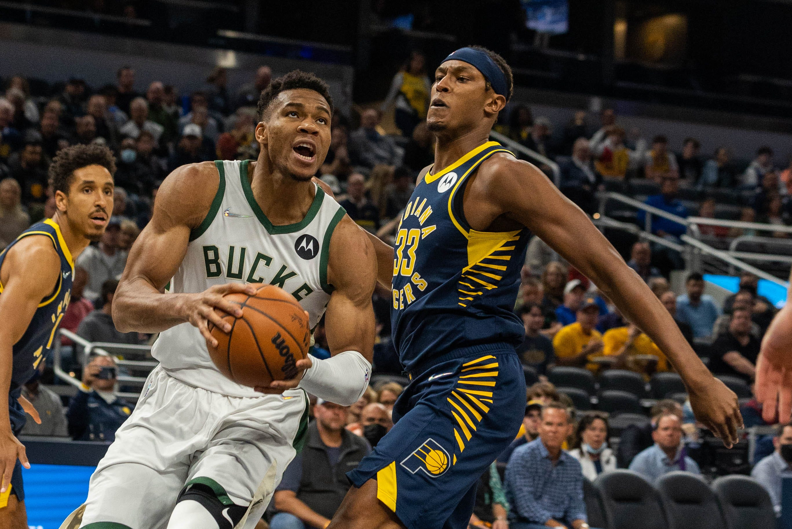 Pacers host Bucks, Giannis Antetokounmpo in NBA action