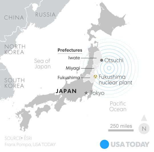 Years Later Japan Still Struggles To Recover From Tsunami Disaster - Japan map 2016