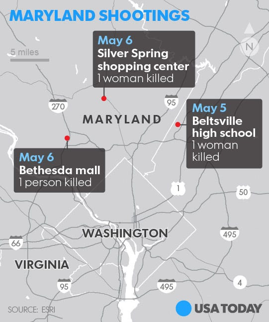 2 Dead In Suburban D.C. Shootings; Suspect Arrested