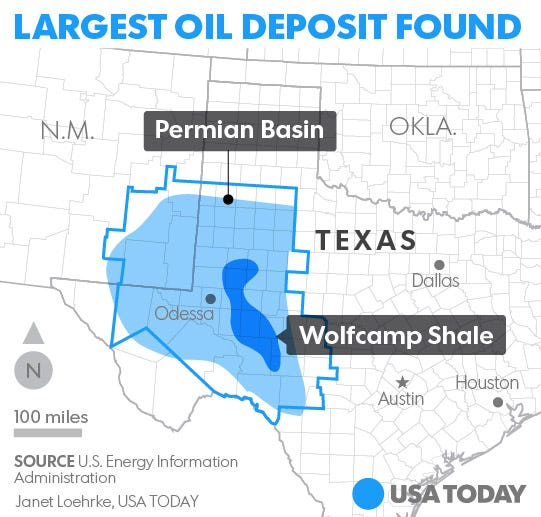 USGS Largest Oil Deposit Ever Found In US Discovered In Texas - Us oil shale map