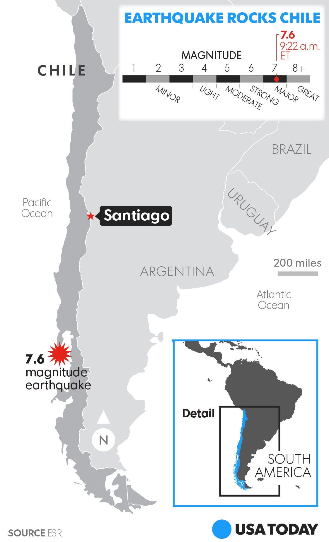 Powerful earthquake shakes Chile