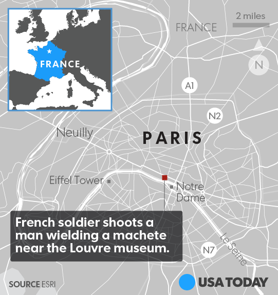 Paris: Machete-wielding Egyptian Tourist of Peace on visa