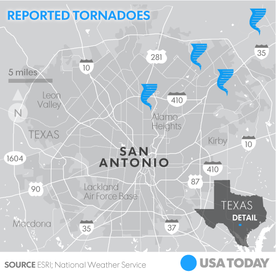 Tornadoes Storms Damage 150 Homes In San Antonio