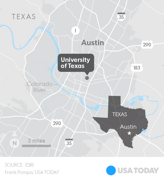 Map Of Texas University Austin.Knife Wielding Student Slashes 4 At University Of Texas Kills 1