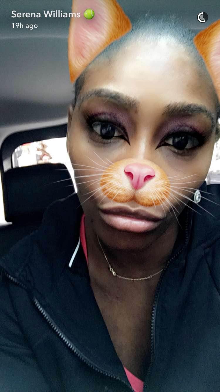 Serena Williams likes Snapchat to avoid 'really mean trolls'