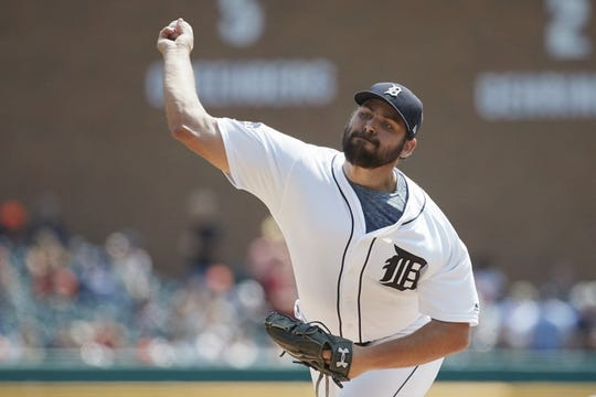 Aug 24, 2017; Detroit, MI, USA; Detroit Tigers starting pitcher Michael Fulmer (32) pitches in the first inning against the New York Yankees at Comerica Park. Mandatory Credit: Rick Osentoski-USA TODAY Sports