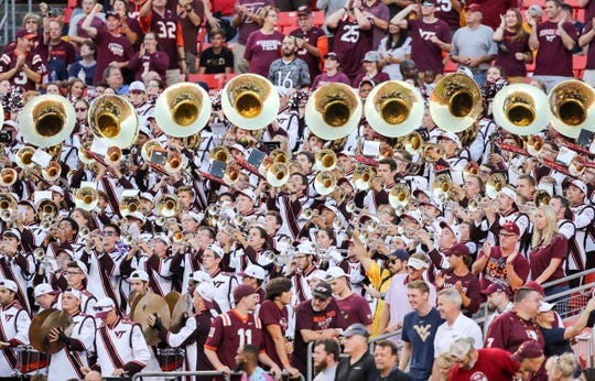 Sep 3, 2017; Landover, MD, USA; The Virginia Tech Hokies band plays before the game at FedEx Field. Mandatory Credit: Ben Queen-USA TODAY Sports